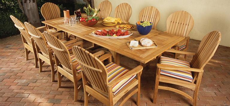 deck wrought iron table. Kingsley Bate Deck Wrought Iron Table