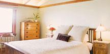 Recessed lighting in the bedroom