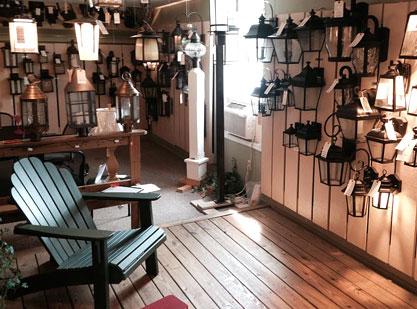 the lighting house showroom in shelburne vt