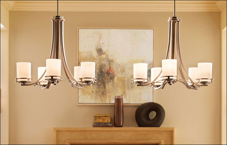 LED Light Bulb Savings. Kichler Hendrik Chandelier