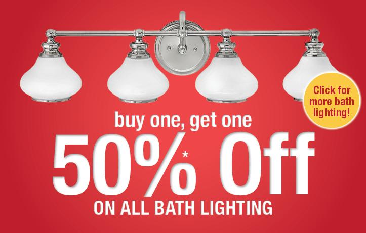 BOGO Bath Lighting Sale